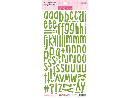 bella blvd guacamole aria alpha puffy stickers bb2