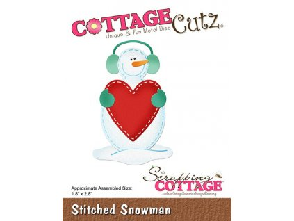 scrapping cottage stitched snowman cc 525