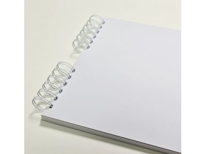Hurá Papír - 24 x 21  cm - bílé desky / bílé listy - album, deník, blok