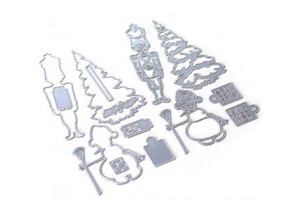 Elizabeth craft designs -  PLANNER A5 / CHRISTMAS FIGURES 34  / 1809 - diářová vyřezávací kovová  sada