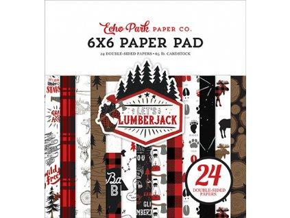 66echo park lets lumberjack 6x6 inch paper pad lu225