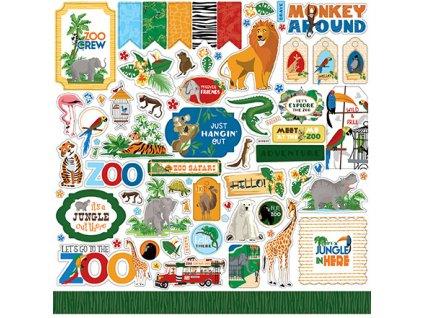 carta bella zoo adventure 12x12 inch element stick