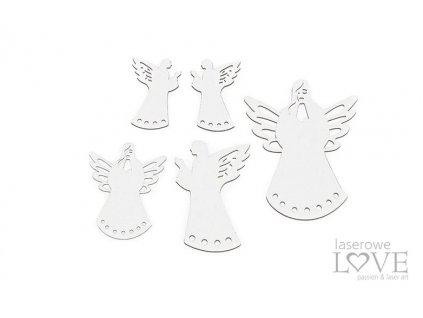 Laserowe LOVE - 237 / LA20473 / Anioły - Cinnamon Christmas - kartonové výseky