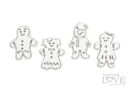 Laserowe LOVE - 238 / LA20509 /  Pierniczki - Christmas in town - kartonové výseky