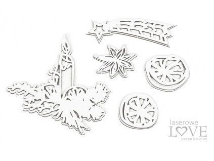 Laserowe LOVE - 239 / LA20451 /  Cinnamon Christmas - kartonové výseky