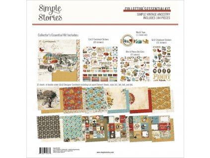 "Simple Stories - VINTAGE ANCESTRY - 12"" XXL "" kompletní scrapbooková sada"