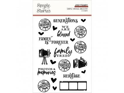 Simple Stories - VINTAGE ANCESTRY  - silikonová razítka