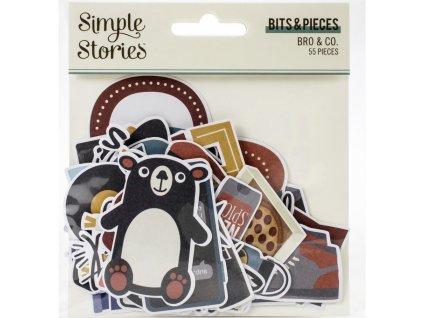 Simple Stories - BRO & CO. - papírové obrázky