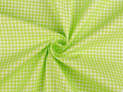 Bavlněná látka mini káro / zeleno - bílá / cca 30 x 80 cm