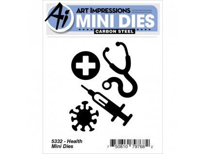 Art Impressions - MINI / HEALTH - kovové šablony na vyřezávání