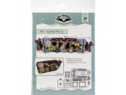 Karen Burniston - TAG BOOK POP-UP - kovové vyřezávací šablony