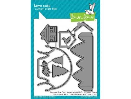 lawn fawn shadow box card mountain add on dies lf2