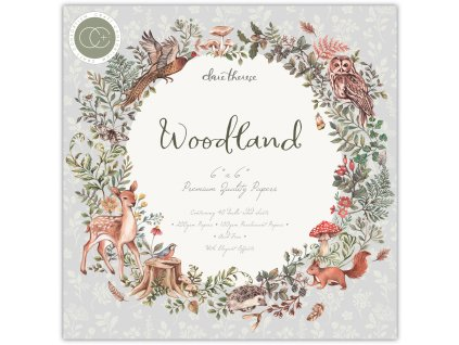 6craft consortium woodland 6x6 inch paper pad ccppa
