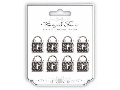 craft consortium metal silver locks afmchrm012