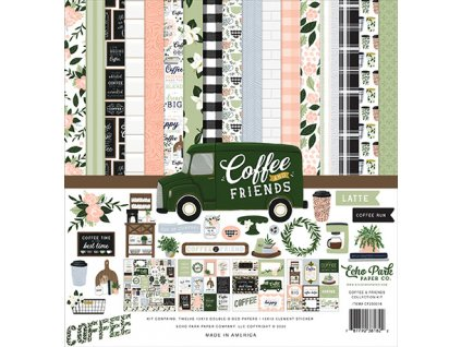"Echo Park - COFFEE AND FRIENDS - kompletní 12""  scrapbooková sada"