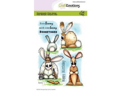 CraftEmotions Clearstamps A6 Bunny 1 1664