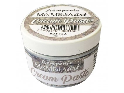 stamperia cream paste metallic silver k3p53a