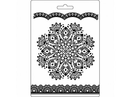 stamperia soft mould a5 doily pattern k3pta516