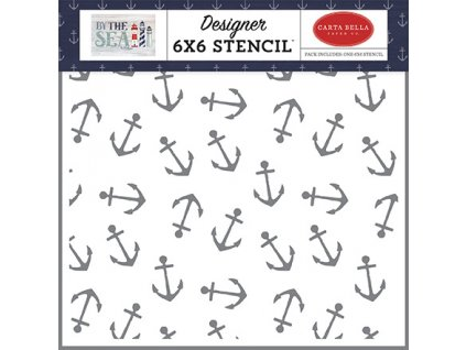 carta bella anchor 6x6 inch stencil cbbs120035