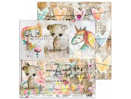 scrapbooking paper be a unicorn sheet 5 pixie dust 12x12