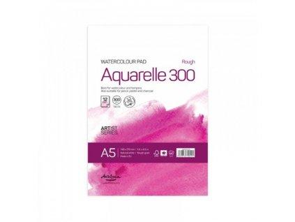 Drasca - AQUARELLE 300 gr / A5 - přírodně  bílé akvarelové čtvrtky