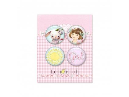 girl s little world lemglw10 zestaw samoprzylepnych ozdob buttonow lemoncraft