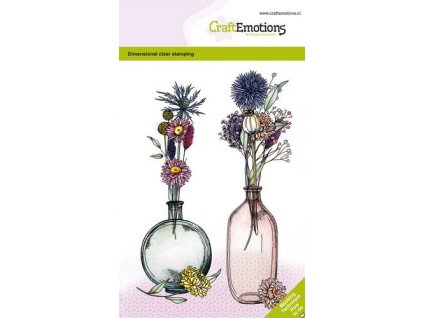 craftemotions clearstamps a6 dried flowers vase 1 gb dimensiona 319198 en G
