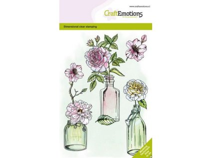 craftemotions clearstamps a6 roses gb dimensional stamp 01 21 319195 en G