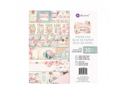 prima marketing with love 8x8 inch paper pad 99621