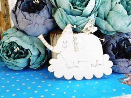 Kreatywna Pracownia - 112 / DO440 / slon - kartonové ozdoby