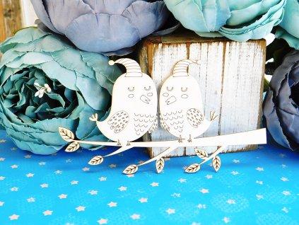Kreatywna Pracownia - 113 / DO436 / ptáci - kartonové ozdoby