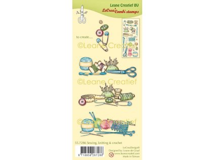 leane creatief sewing knitting crochet clear stamp