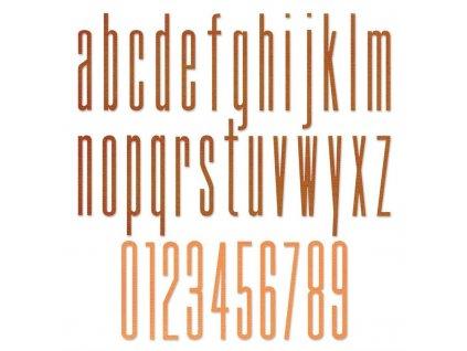Sizzix / Thinlits - ALPHANUMERIC STRETCH LOWER - vyřezávací šablony, abeceda