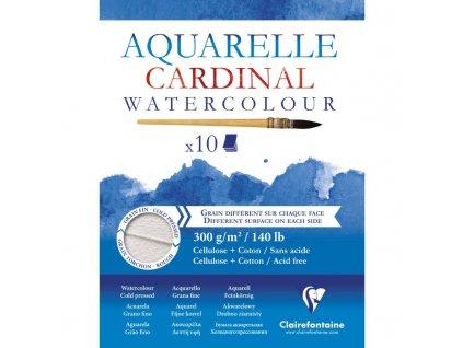 Cardinal - AQUARELLE 300 gr / A4 - přírodně  bílé akvarelové čtvrtky