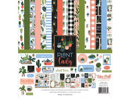 echo park plant lady 12x12 inch collection kit pla