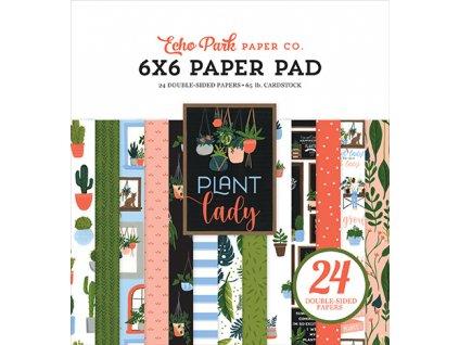 echo park plant lady 6x6 inch paper pad pla211023