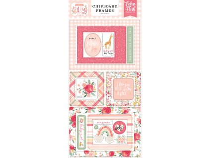 echo park welcome baby girl 6x13 inch chipboard fr