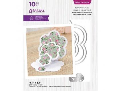 gemini triple easel flowers create a card dies gem