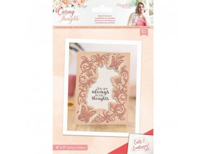 crafters companion caring thoughts cut and emboss