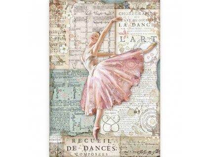 stamperia rice paper a4 passion dancer 6 pcs dfsa4