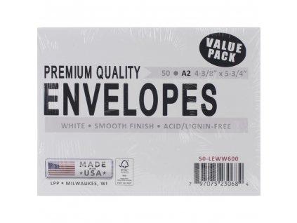 USA - A2 / 14,5 x 11,3 cm / 50 ks - obálky na přáníčka
