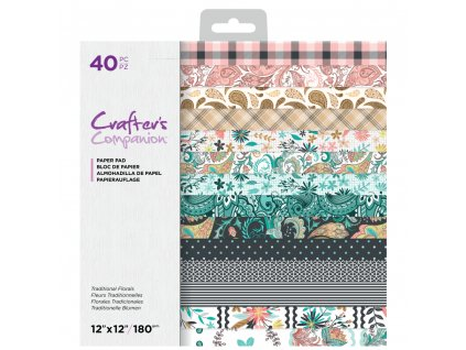crafters companion traditional florals 12x12 inch