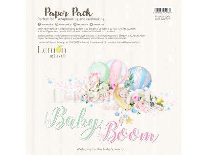 baby boom zestaw papierow do scrapbookingu 30x30cm lemoncraft
