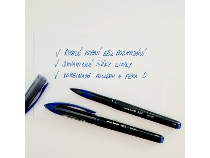 Uni-Ball - AIR / ROLLER BALL PEN / 0,5 mm / UBA-188-M - modré inkoustové pero