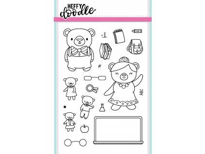 heffy doodle teachers pet clear stamps hfd0047