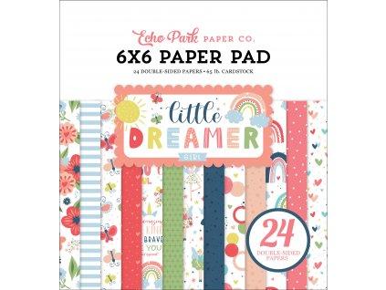 echo park little dreamer girl 6x6 inch pvaper pad l
