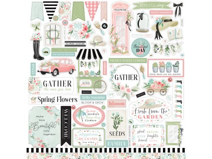 carta bella flower garden 12x12 inch element stick