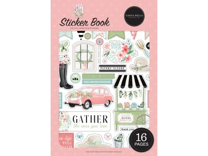 carta bella flower garden sticker book cbga130029