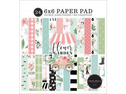 66carta bella flower garden 6x6 inch paper pad cbga1