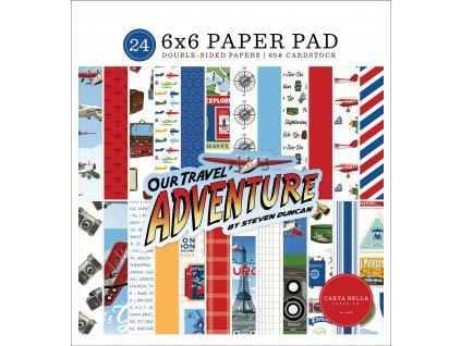 66carta bella our travel adventure 6x6 inch paper pa